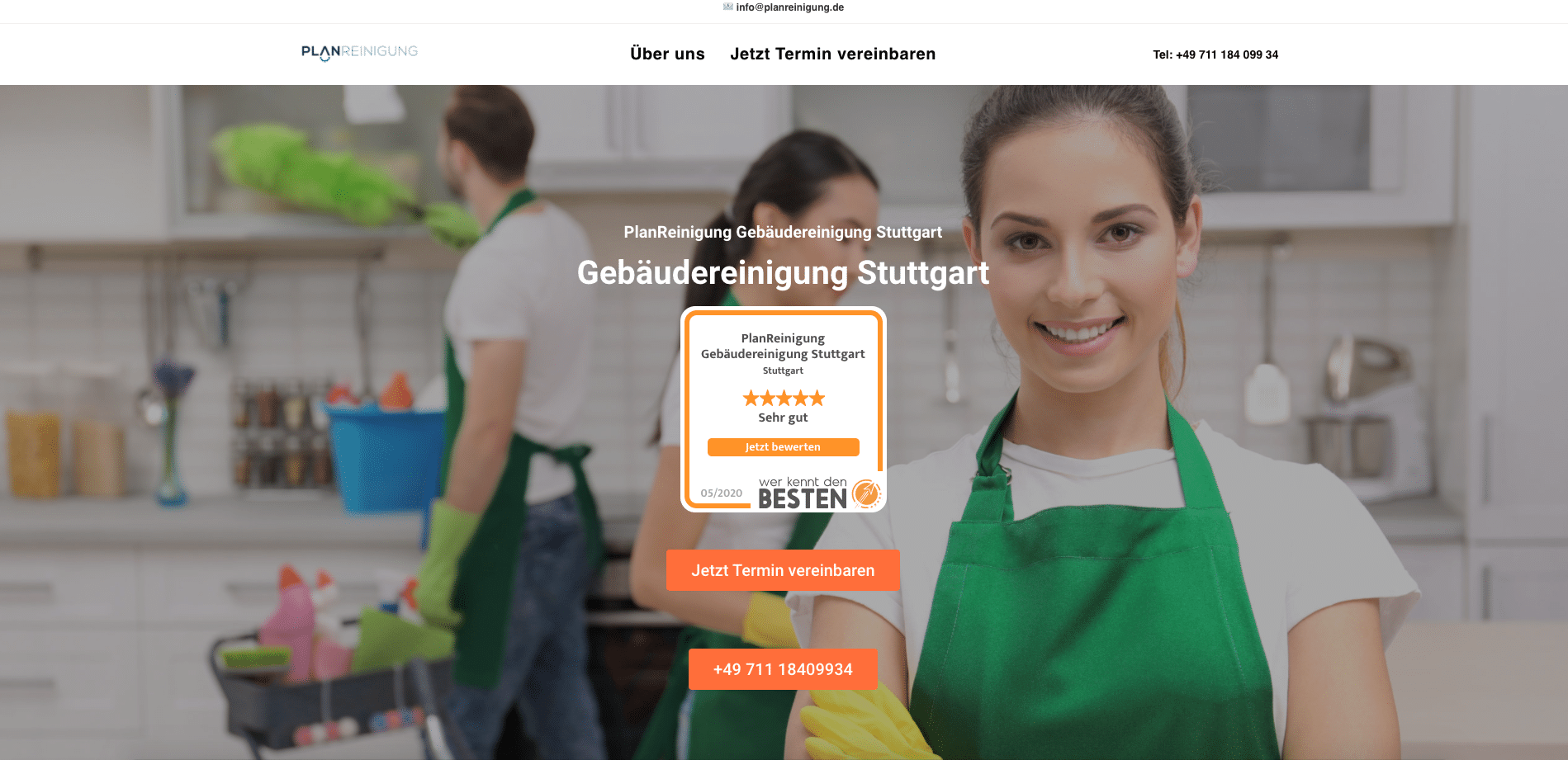 Handwerker Website Homepage erstellen